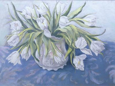 White Tulips-Cristiana Angelini-Giclee Print