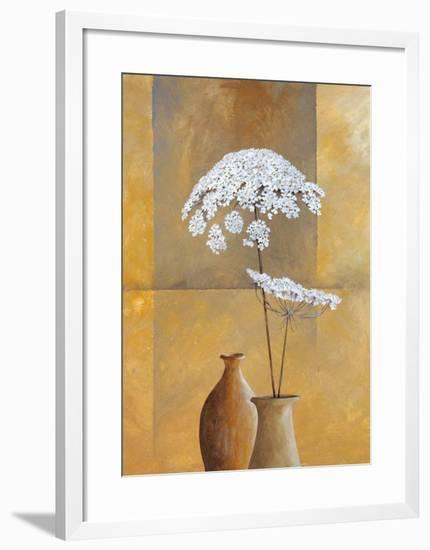 White Umbellas I-Isabel Martinez-Framed Art Print