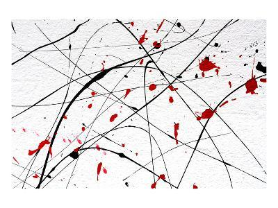 White Wall-Abstract Art Detail--Art Print