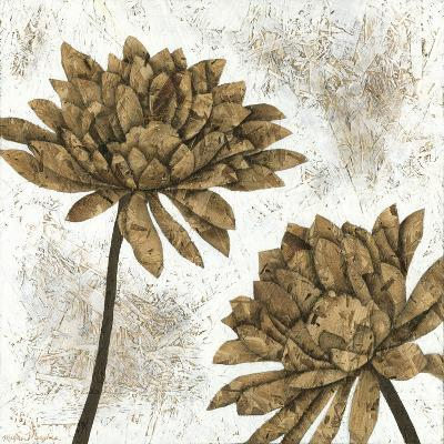 White Washed Dahlias I-Megan Meagher-Art Print
