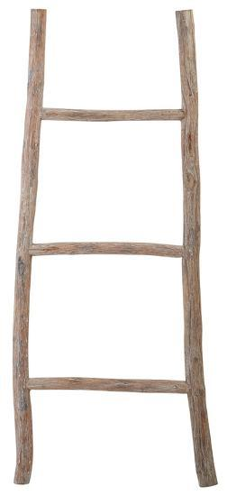 White Washed Wood Ladder - Small--Home Accessories