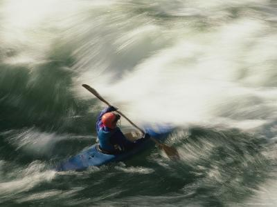 White Water Kayaking on the Middle Fork of the Smith River-Phil Schermeister-Photographic Print