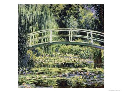 White Water Lilies-Claude Monet-Giclee Print