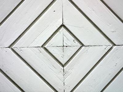 White Weathered Wooden Diamond Pattern--Photographic Print