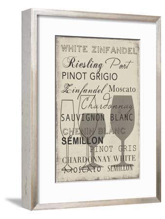 White Wine Collection - Mini-Aimee Wilson-Framed Art Print
