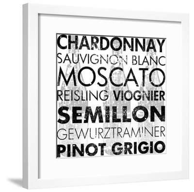White Wine-Veruca Salt-Framed Art Print