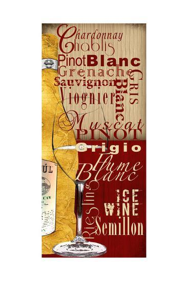 White Wine-Lisa Wolk-Art Print