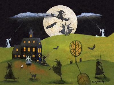 White Witch Halloween Dance Cheryl Bartley-Cheryl Bartley-Giclee Print