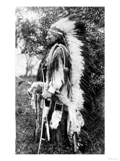 White Wolf, a Comanche Chief, circa 1891-98--Giclee Print