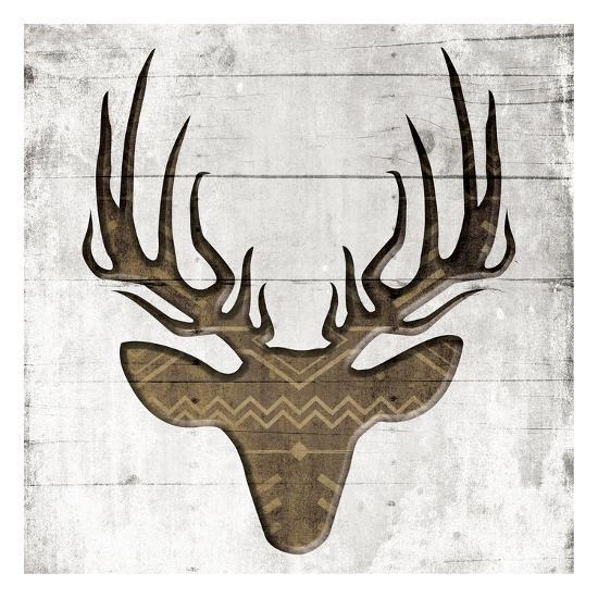 White Wood Deer Mate-Jace Grey-Art Print