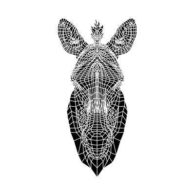 White Zebra Mesh-Lisa Kroll-Art Print