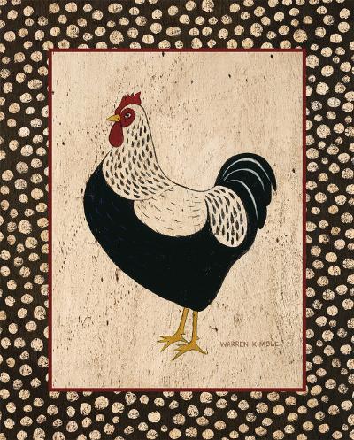 Whiteback Chicken-Warren Kimble-Art Print