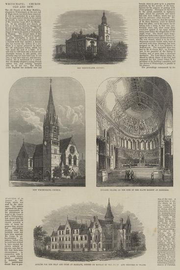 Whitechapel Church, Old and New--Giclee Print