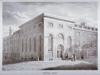 Whitefield Chapel on Charles Street, Westminster, London, C1841-George Scharf-Giclee Print