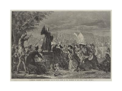 Whitefield Preaching in Moorfields, Ad 1742-Eyre Crowe-Giclee Print