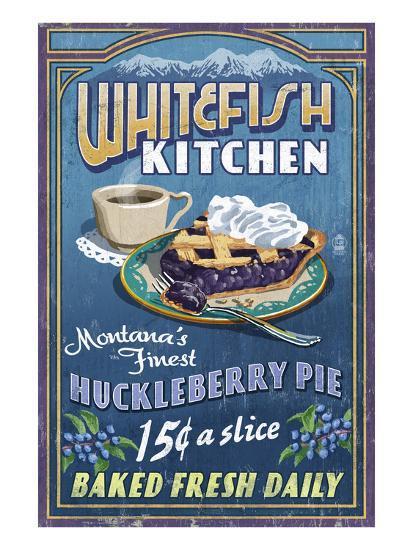 Whitefish, Montana - Huckleberry-Lantern Press-Art Print