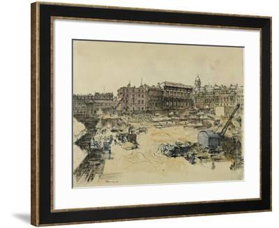Whitehall Palace and Banqueting Hall-Lord Methuen-Framed Giclee Print