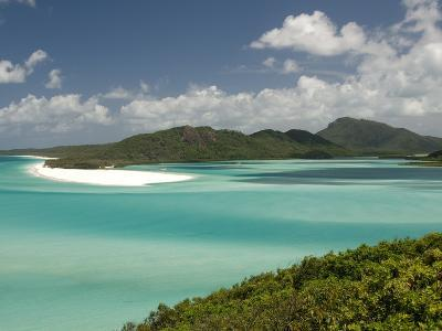Whitehaven Beach and Hill Inlet, Whitsunday Island, Queensland, Australia, Pacific-Tony Waltham-Photographic Print
