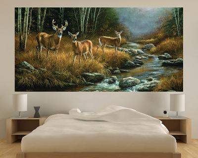 Whitetail Deer IndoorOutdoor Vinyl Wall Mural Wall Mural by Artcom