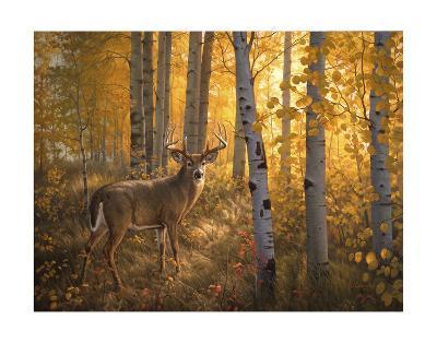 Whitetail in Aspens-Greg Alexander-Art Print