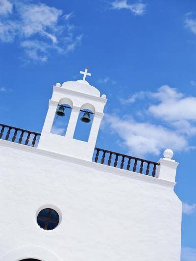 Whitewashed Church with Bell Tower-Design Pics Inc-Photographic Print