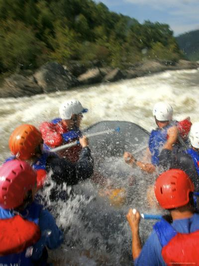 Whitewater Rafters Take on the Upper Gauley River-Skip Brown-Photographic Print