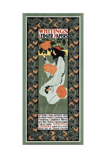 Whitings Ledger Papers-Will Bradley-Art Print