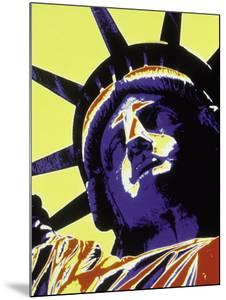 Abstract of Statue of Liberty, NYC by Whitney & Irma Sevin