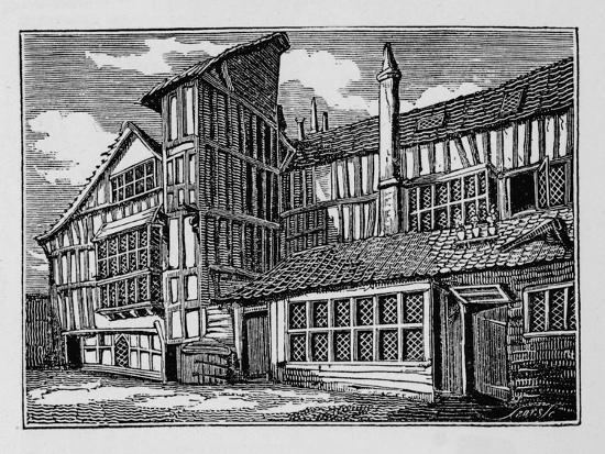 Whittington's House in Swithin's Passage, Moor Lane, City of London, 1823 (1906)-Unknown-Giclee Print