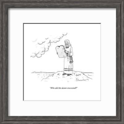 Who Did The Damn Crossword New Yorker Cartoon Premium Giclee Print Danny Shanahan Art Com