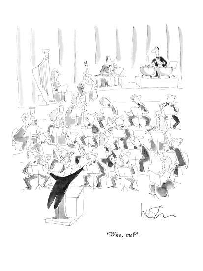 """Who, me?"" - New Yorker Cartoon-Arnie Levin-Premium Giclee Print"