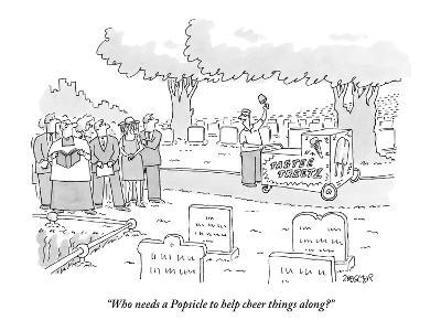 """""""Who needs a Popsicle to help cheer things along?"""" - New Yorker Cartoon-Jack Ziegler-Premium Giclee Print"""
