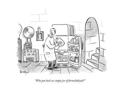 """Who put back an empty jar of formaldehyde?"" - New Yorker Cartoon--Premium Giclee Print"