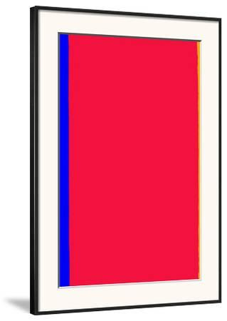 Who's Afraid of Red and Yellow?-Barnett Newman-Framed Art Print