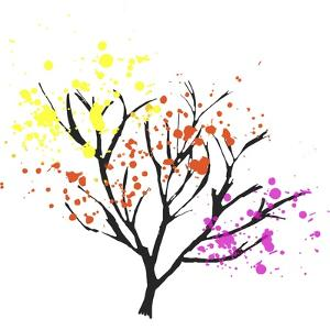 Colorful Leaves in a Tree by Whoartnow