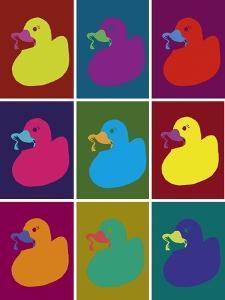 Ducks in Color Blocks by Whoartnow