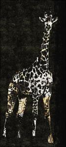 Giraffe on Black by Whoartnow