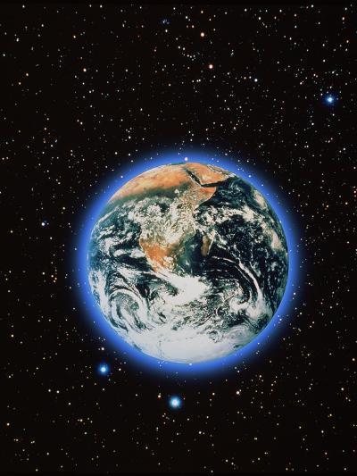 Whole Earth & Stars--Photographic Print