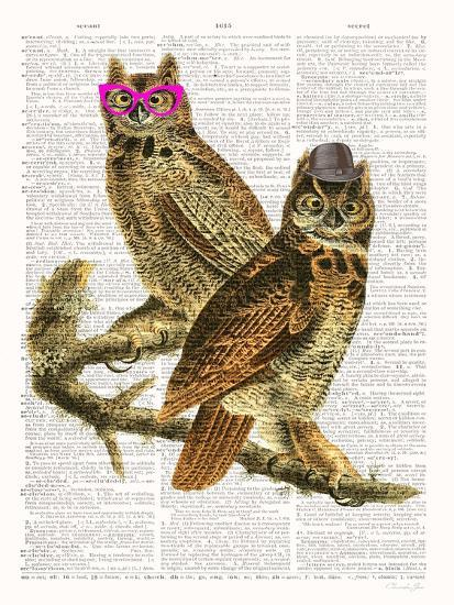 Whoo Are You Looking At ?-Christopher James-Art Print