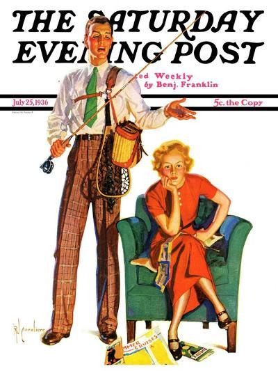 """""""Whose Vacation?,"""" Saturday Evening Post Cover, July 25, 1936-R^J^ Cavaliere-Giclee Print"""