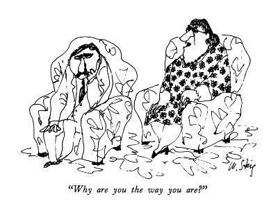 """Why are you the way you are?"" - New Yorker Cartoon-William Steig-Premium Giclee Print"