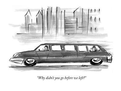 """Why didn't you go before we left?"" - New Yorker Cartoon-Lee Lorenz-Premium Giclee Print"