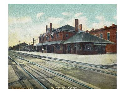 Wichita, Kansas - Exterior View of Rock Island Train Depot-Lantern Press-Art Print