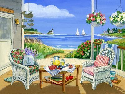 Wicker Porch-Geraldine Aikman-Giclee Print
