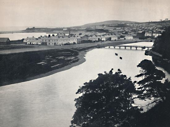 'Wicklow - General View of the Town and the River', 1895-Unknown-Photographic Print