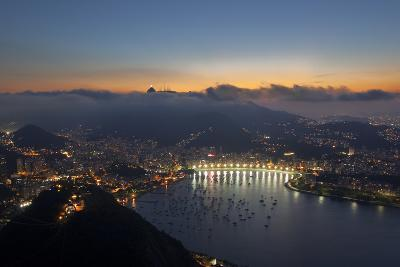 Wide Angle View of Rio De Janeiro at Sunset with Guanabara Bay-Alex Saberi-Photographic Print