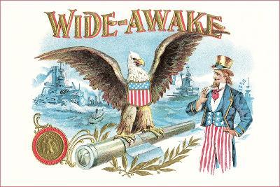 Wide-Awake, Eagle, Uncle Sam--Art Print