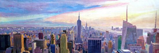Wide Panorama of Manhattan w New Jersey a Brooklyn-Markus Bleichner-Art Print