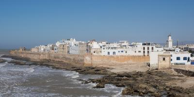 Wide View of the Old Part of Essaouira Seen from the Top of the Skala Du Port, Morocco--Photographic Print