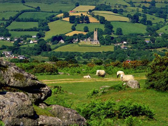 Widecombe in the Moor, Dartmoor, National Park, Devon, England, Uk. Widecombe in the Moor is Situat-Philip Fenton Lrps-Photographic Print